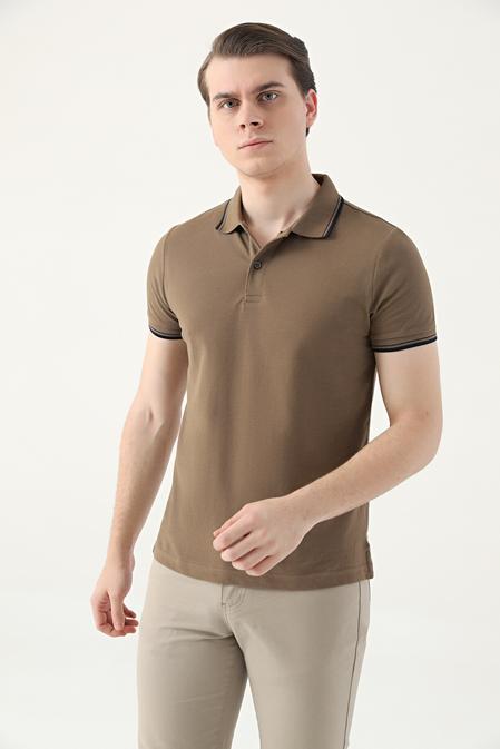 Ds Damat Slim Fit Vizon Pike Dokulu T-shirt - 8682060908964   D'S Damat