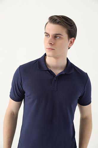 Ds Damat Regular Fit Lacivert Pike Dokulu T-shirt - 8682445204278 | D'S Damat