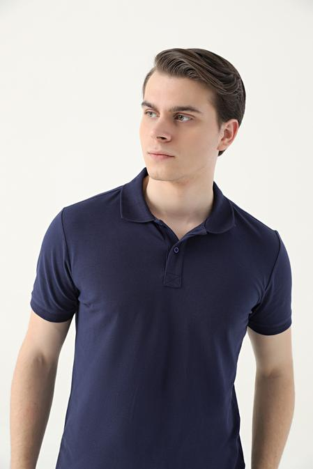 Ds Damat Regular Fit Lacivert Pike Dokulu T-shirt - 8682445204278   D'S Damat