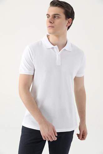 Ds Damat Slim Fit Beyaz Çizgili T-shirt - 8682445267419 | D'S Damat
