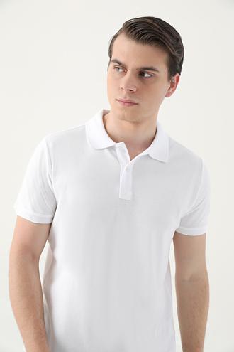 Ds Damat Regular Fit Beyaz Pike Dokulu T-shirt - 8682445204513 | D'S Damat