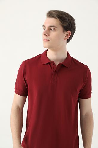 Ds Damat Regular Fit Bordo Pike Dokulu T-shirt - 8682445204575 | D'S Damat