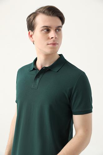 Ds Damat Regular Fit Haki Pike Dokulu T-shirt - 8682445204636 | D'S Damat