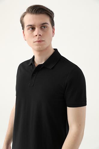Ds Damat Regular Fit Siyah Pike Dokulu T-shirt - 8682445204230 | D'S Damat