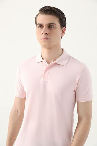 Ds Damat Regular Fit Pembe Pike Dokulu T-shirt - 8682445204759 | D'S Damat