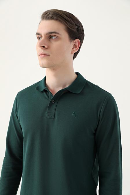 Ds Damat Regular Fit Haki Pike Dokulu T-shirt - 8682445205145   D'S Damat