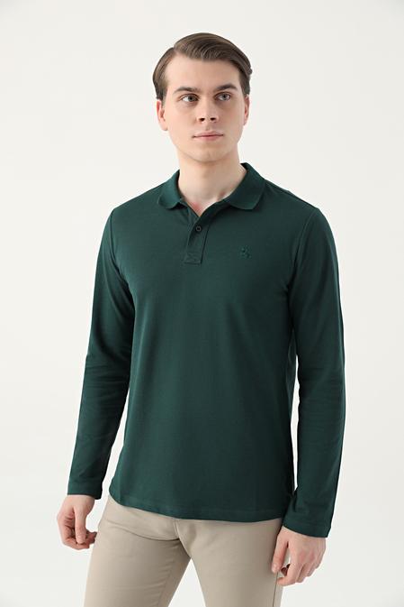 Ds Damat Regular Fit Haki Pike Dokulu T-shirt - 8682445205145 | D'S Damat