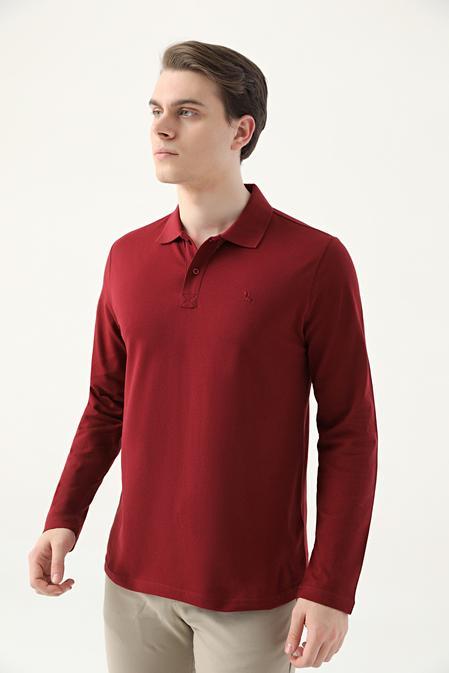 Ds Damat Regular Fit Bordo Pike Dokulu T-shirt - 8682445205121 | D'S Damat
