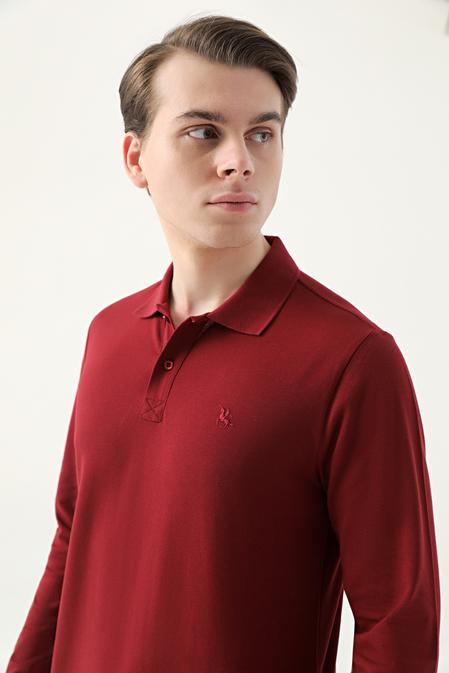 Ds Damat Regular Fit Bordo Pike Dokulu T-shirt - 8682445205121   D'S Damat