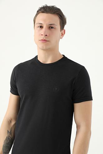 Tween Siyah Baskılı T-shirt - 8682364521692 | Damat Tween