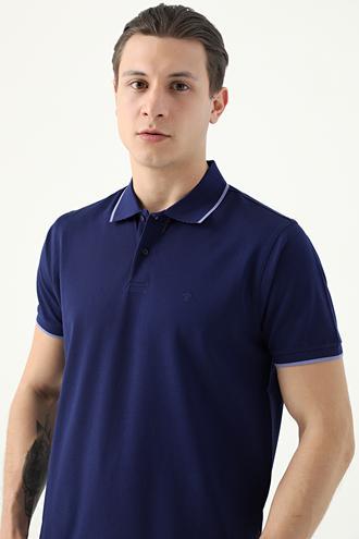 Damat Lacivert 60/2 Merserize T-shirt - 8682364784110 | Damat Tween