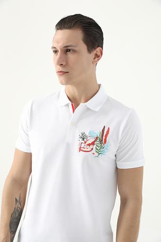 Tween Beyaz Nakışlı T-shirt - 8682364498376 | Damat Tween