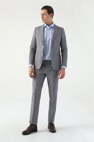 Ds Damat Slim Fit Kahve Desenli Takım Elbise - 8681778939932 | D'S Damat