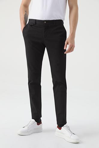 Twn Slim Fit Siyah Armürlü Chino Pantolon - 8682060952592 | D'S Damat
