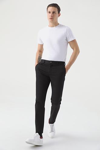 Twn Slim Fit Siyah Armürlü Chino Pantolon - 8682060592613 | D'S Damat
