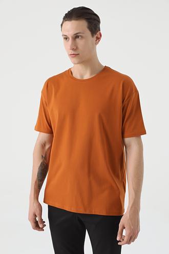 Twn Oversize Tarçın Düz T-shirt - 8682445059892 | D'S Damat