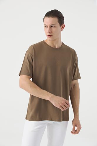Twn Oversize Vizon Düz T-shirt - 8682445060102 | D'S Damat