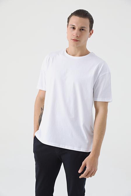 Twn Oversize Beyaz Düz T-shirt - 8682445165999 | D'S Damat