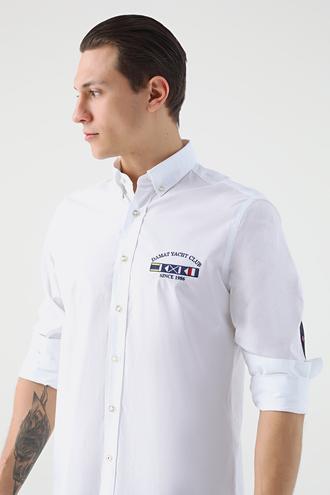 Damat Comfort Beyaz Desenli Gomlek - 8681649049081 | Damat Tween