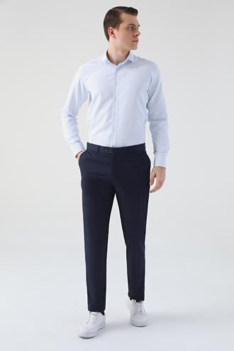 Ds Damat Lacivert Düz Kumaş Pantolon - 8682060927415 | D'S Damat