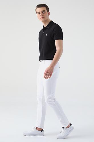Twn Slim Fit Beyaz Armürlü Chino Pantolon - 8682445306972 | D'S Damat