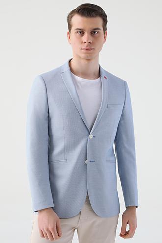 Twn Slim Fit Mavi Düz Kumaş Ceket - 8682445356038 | D'S Damat