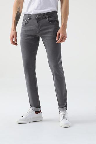 Damat Slim Fit Gri Denim Pantolon - 8682364508358 | Damat Tween