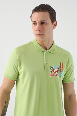 Tween Yeşil Nakışlı T-shirt - 8682364498215 | Damat Tween