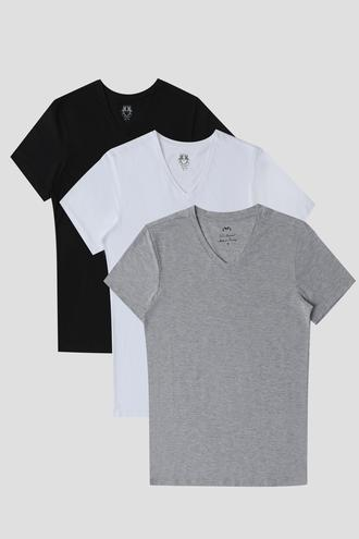Ds Damat Slim Fit Standart 3'lü T-shirt - 6725695022635 | D'S Damat