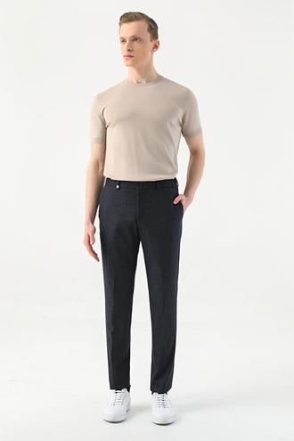 Tween Slim Fit Lacivert Kumaş Pantolon - 8682364828203 | Damat Tween