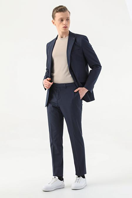 Tween Slim Fit Lacivert Çizgili Takım Elbise - 8682364813308 | Damat Tween