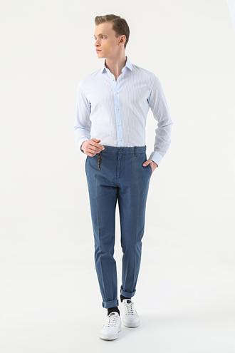 Tween Slim Fit Lacivert Düz Chino Pantolon - 8681649372554   D'S Damat