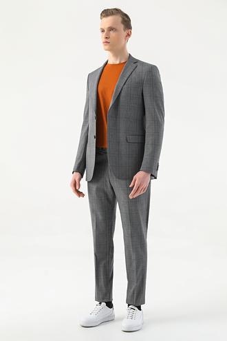 Tween Slim Fit Gri Takım Elbise - 8682364641062   Damat Tween