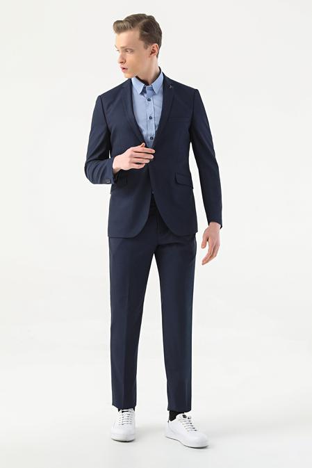Tween Slim Fit Lacivert Takım Elbise - 8682364703067   Damat Tween