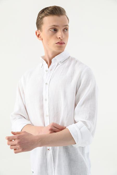 Damat Comfort Beyaz Düz Gömlek - 8682364483532 | Damat Tween