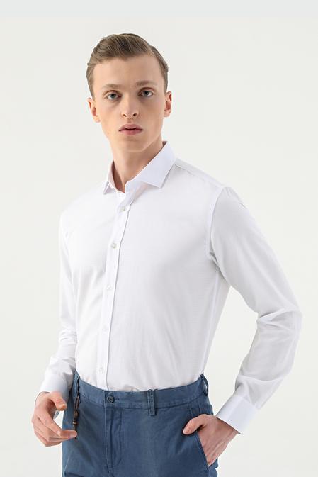 Tween Slim Fit Beyaz Gömlek - 8682364660384 | Damat Tween