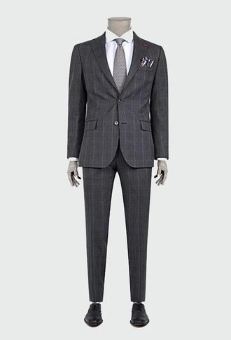 Ds Damat Regular Fit Slim Fit Antrasit Ekoseli Takım Elbise - 8681494728469 | D'S Damat