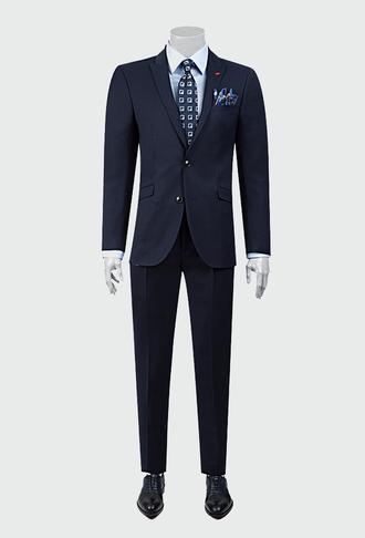 Twn Slim Fit Lacivert Kareli Takım Elbise - 8682060358912 | D'S Damat
