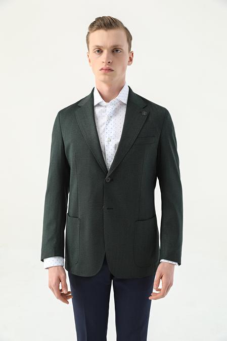 Damat Regular Fit Yeşil Kumaş Ceket - 8682364155156 | Damat Tween