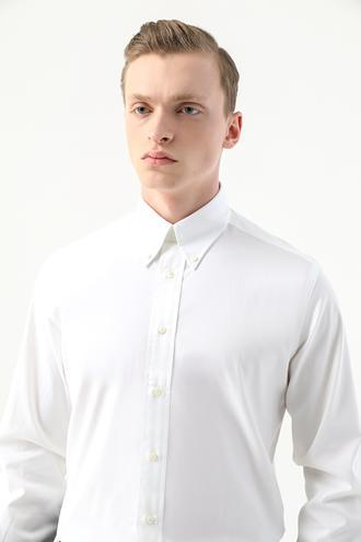 Damat Comfort Beyaz Düz Gömlek - 8682364509386 | Damat Tween