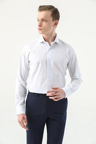 Damat Slim Fit Mavi Gömlek - 8682364814398 | Damat Tween