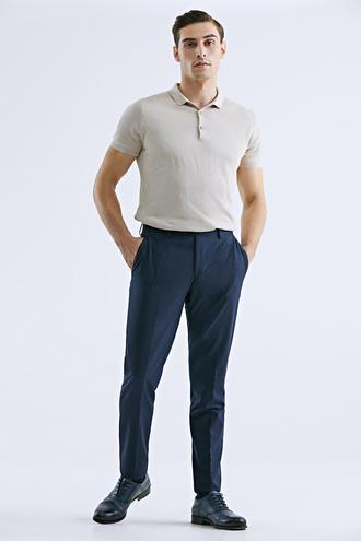Tween Slim Fit Lacivert Kumaş Pantolon - 8682364628254 | Damat Tween