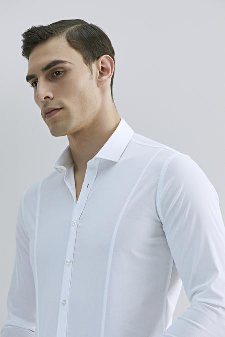 Tween Super Slim Fit Beyaz Düz Gömlek - 8682364628933 | Damat Tween