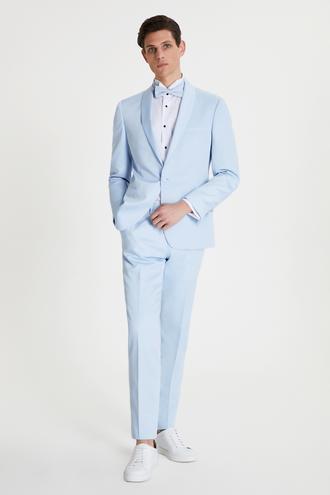 Tween Slim Fit Buz Mavi Smokin Takım - 8682364803026   Damat Tween