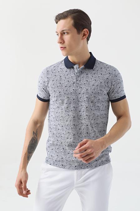 Twn Slim Fit Lacivert Baskılı T-shirt - 8682060914828   D'S Damat