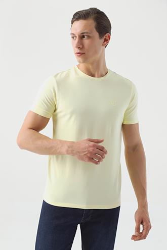 Twn Slim Fit Sarı Düz T-shirt - 8682445061369   D'S Damat
