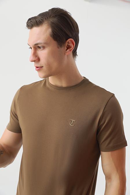 Twn Slim Fit Vizon Düz T-shirt - 8682445165333   D'S Damat