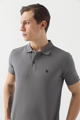 Ds Damat Regular Fit Antrasit Pike Dokulu T-shirt - 8682060906687 | D'S Damat