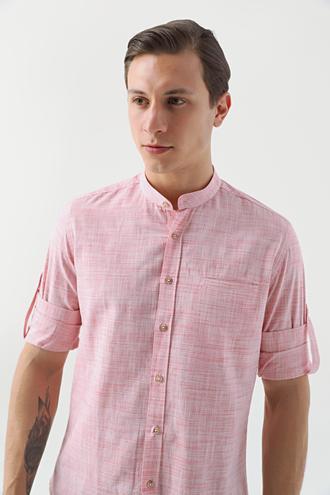 Twn Slim Fit Kırmızı Çizgili Gömlek - 8681779902188 | D'S Damat