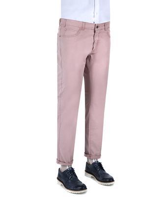 Ds Damat Slim Fit Pembe Chino Pantolon - 8681779310389   D'S Damat